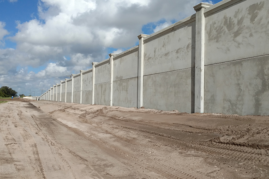 16' High Noise Barrier Wall