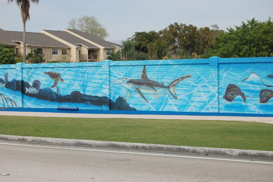 Textured Wall Finish Seascape